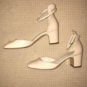 Zara Cream Nude Patent Low Heels